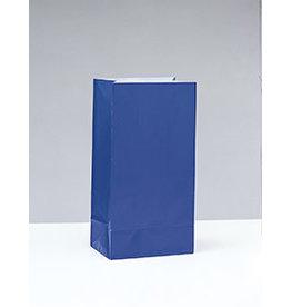 unique Royal Blue Paper Party Bags - 12ct.