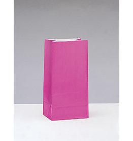 unique Hot Pink Paper Party Bags - 12ct.