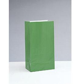 unique Green Paper Party Bags - 12ct.