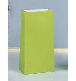 unique Lime Green Paper Party Bags - 12ct.