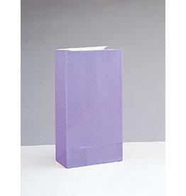 unique Lavender Paper Party Bags - 12ct.