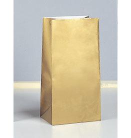 unique Gold Metallic Paper Party Bags - 10ct.