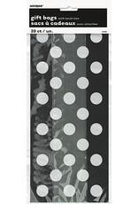 unique Black Dot Cello Bags - 20ct.
