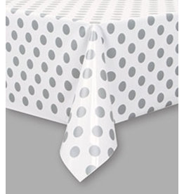 "unique Silver Dots Tablecover 54"" x 108"""