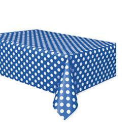 """unique Royal Blue Dots Tablecover 54"""" x 108"""""""