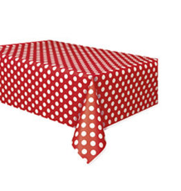 """unique Ruby Red Dots Tablecover - 54"""" X 108"""""""