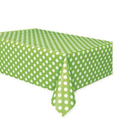 """unique Lime Green Dots Tablecover - 54"""" X 108"""""""