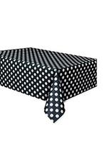 """unique Black Dots Tablecover 54""""X108"""