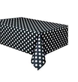"""unique Black Dots Tablecover - 54"""" X 108"""""""