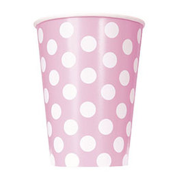 unique Lovely Pink Dots 12oz Cups - 6ct.