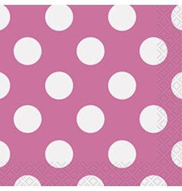 unique Hot Pink Dots Bev Napkins - 16ct.