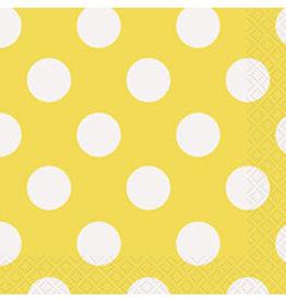 unique Sunflower Yellow Dots Bev Napkins - 16ct.