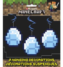 unique Minecraft Hanging Decorations - 3ct.