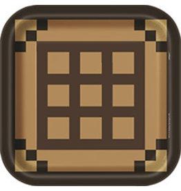 "unique Minecraft Wooden Chest Plates 9"" - 8ct."