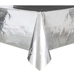 "unique Metallic Silver Tablecover (54"" x 108"")"