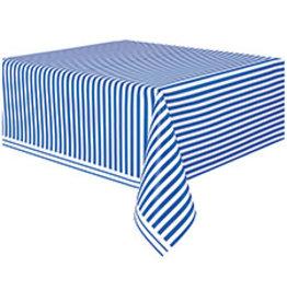"unique Royal Blue Striped Tablecover 54""X 108"""