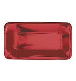 """unique Metallic Red Rec. 9"""" Plate - 8ct."""