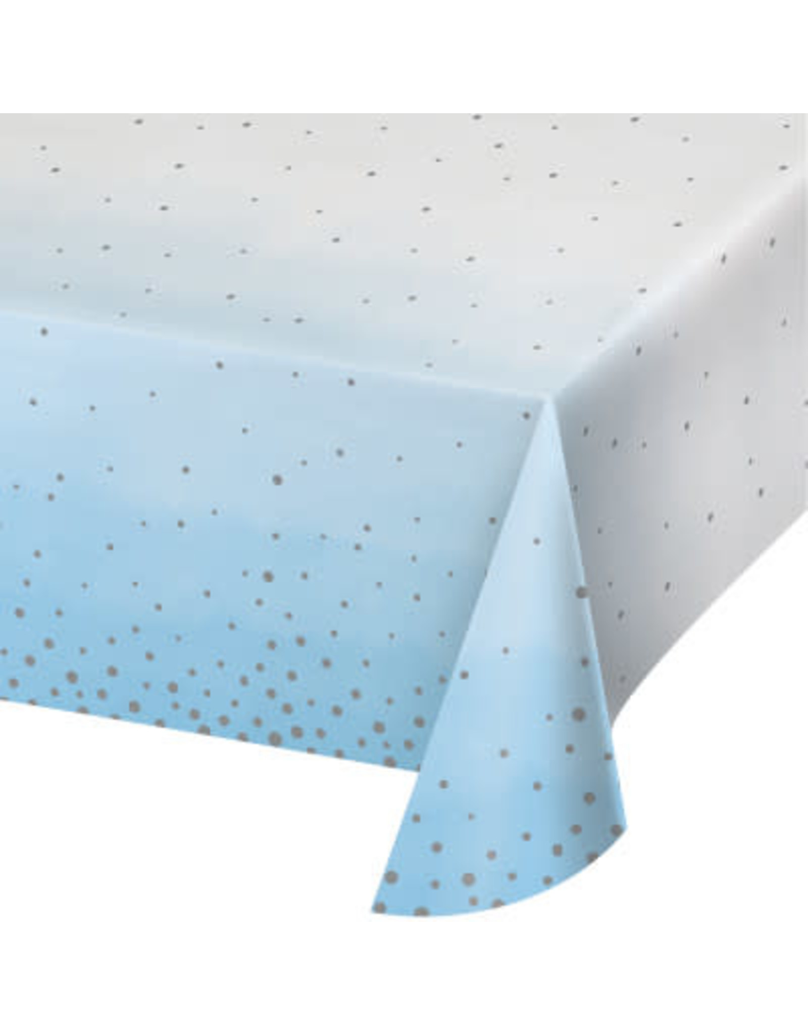 creative converting Blue & Silver Celebration Tablecover