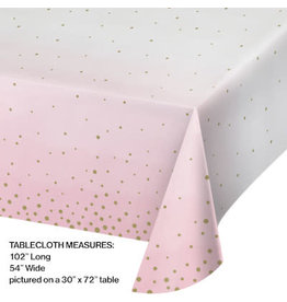 creative converting Pink & Gold Celebration Tablecover