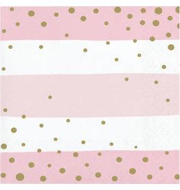 creative converting Pink & Gold Celebration Bev. Napkins - 16ct.