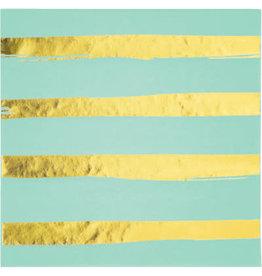 creative converting Fresh Mint w/ Gold Dots Lun. Napkins - 16ct.