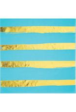 creative converting Bermuda Blue w/ Gold Dots Lun. Napkins - 16ct.