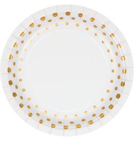 "creative converting Gold Dot Sparkle & Shine 9"" Plates - 8ct."