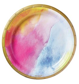 "Amscan Rainbow Dream 7"" Plates - 8ct."