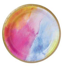 "Amscan Rainbow Dream 9"" Plates - 8ct."