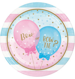 "creative converting Gender Reveal Balloons 9"" Plate - 8ct."