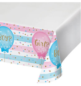 creative converting Gender Reveal Balloons Tablecover