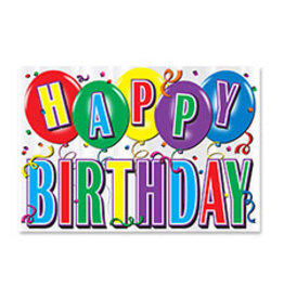 Beistle Happy Birthday Foil Cutout Sign