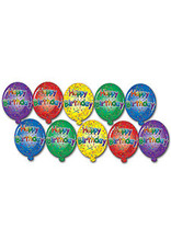 "Beistle 4.5"" Happy Birthday Cutouts - 10ct."