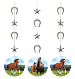 creative converting Horse and Pony Hanging Cutouts - 3ct.