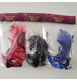 party club Half Face w/ Feather Masquerade Masks