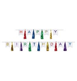 Beistle Happy Birthday Tassle Banner - 6ft.
