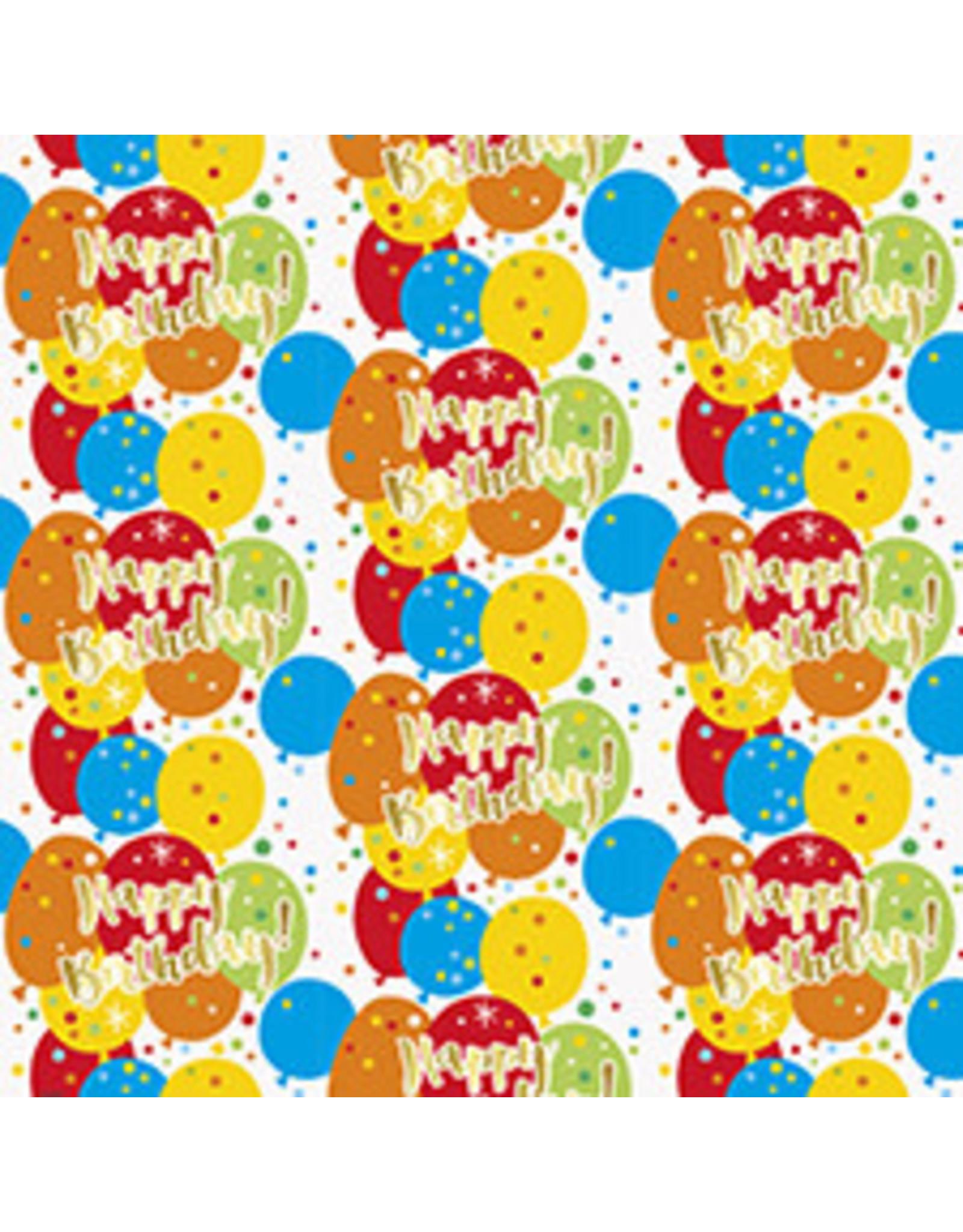"""unique Birthday Confetti Gift Wrap 30"""" x 5'"""