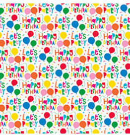 """unique Happy Birthday Gift Wrap 30"""" x 5'"""