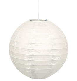"unique White 10"" Round  Lantern"