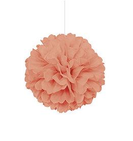 """unique Coral 16"""" Puff ball"""