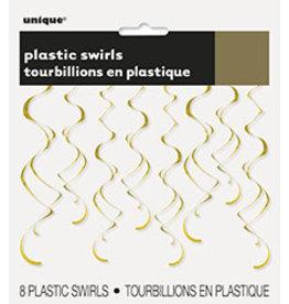 unique Gold  Swirls - 8ct.