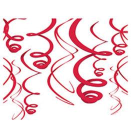Amscan Apple Red Swirls - 12ct.