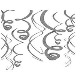 Amscan Silver Swirls - 12ct.