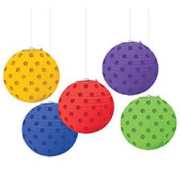 Amscan Multi-Color Lanterns - 5ct.