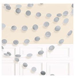 Amscan Silver Glitter Dot String Garland - 6ct.