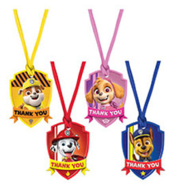 Amscan Paw Patrol Thank You tags - 8ct.