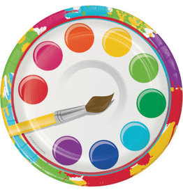 """creative converting Art Party 7"""" Plate - 8ct."""