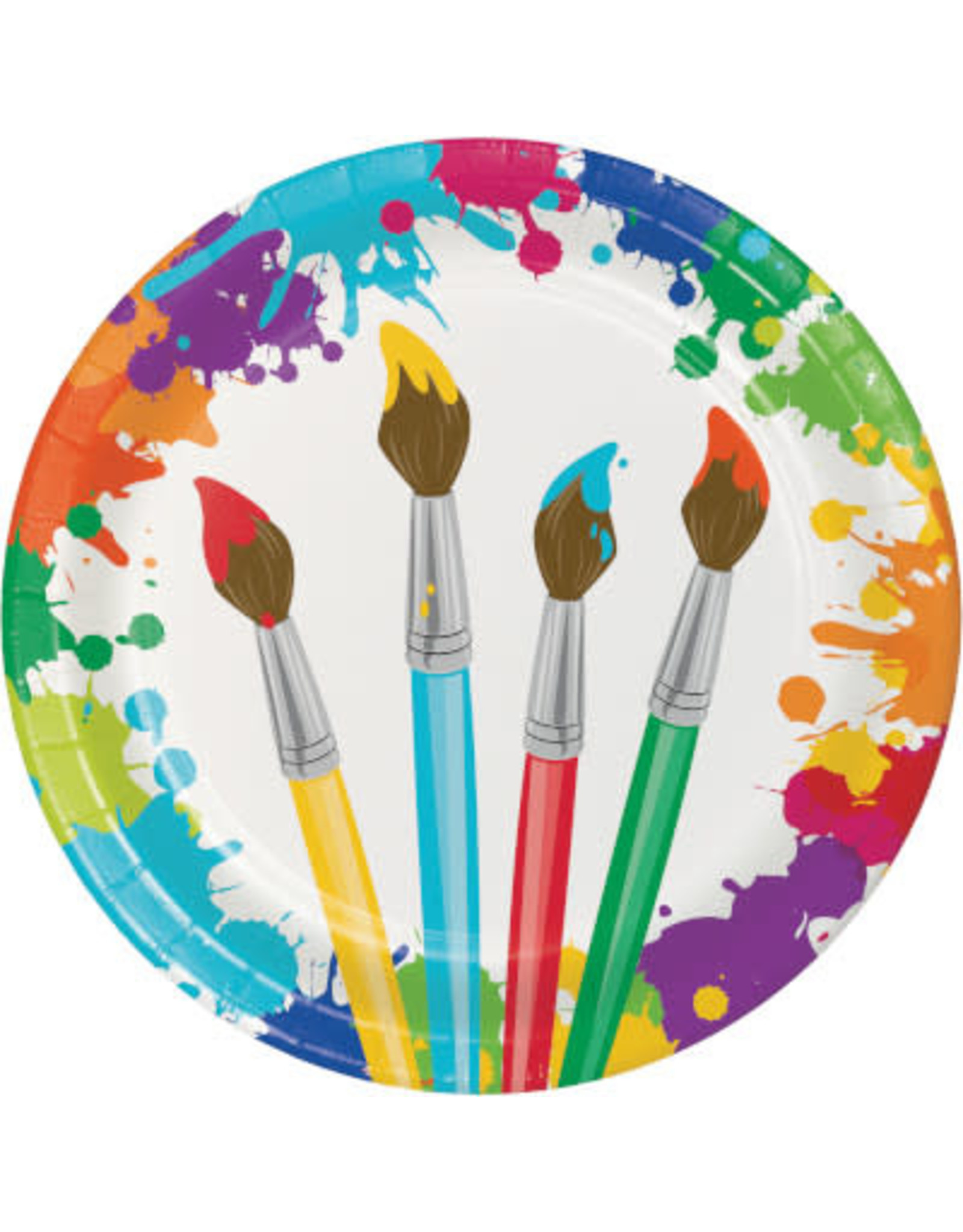"""creative converting Art Party 9"""" Plate - 8ct."""