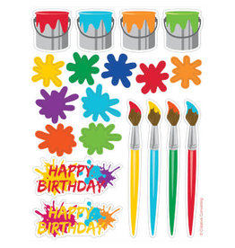 creative converting Art Party Sticker Sheets - 4ct.
