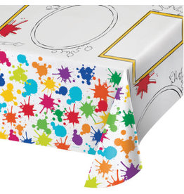 creative converting Art Party Tablecover - 54 x 96